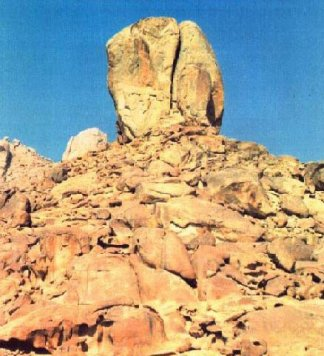 Split Rock at Horeb